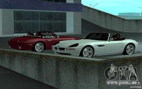 BMW Z8 für GTA San Andreas Rückansicht