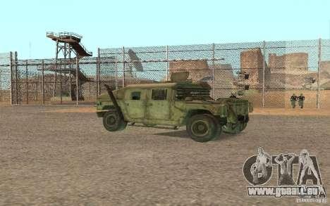 Hummer Spec Ops The Line pour GTA San Andreas vue de droite