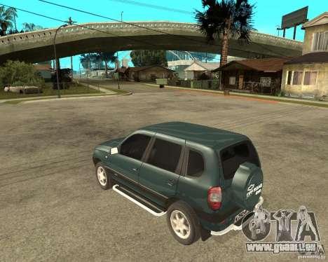 NIVA Chevrolet pour GTA San Andreas laissé vue