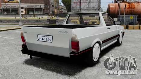 Volkswagen Saveiro 1990 Turbo für GTA 4 hinten links Ansicht