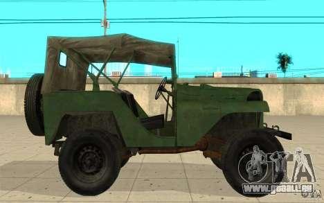 Gaz-64 peau 1 pour GTA San Andreas laissé vue