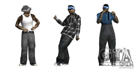 Nouveau skin Pack pour le gang de Rifa pour GTA San Andreas