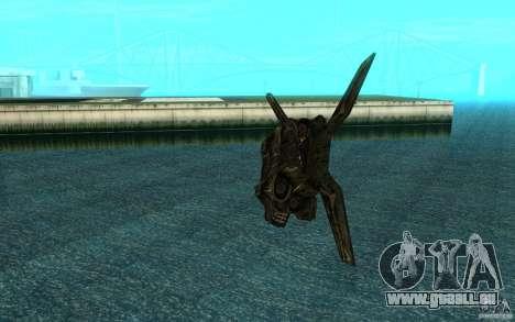 Das Shuttle aus dem Spiel Aliens Vs Predator 3 für GTA San Andreas Rückansicht