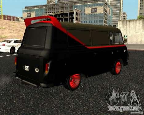 1961-1991 Barkas B1000 pour GTA San Andreas sur la vue arrière gauche