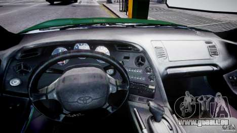 Toyota Supra MKIV 1995 v2.0 Final für GTA 4 Rückansicht