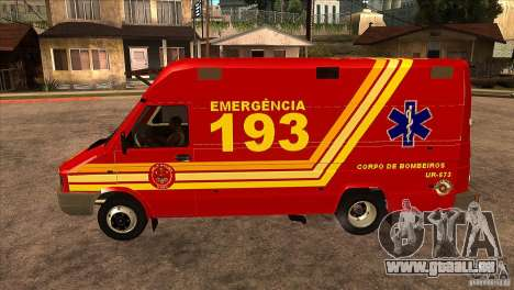 Iveco Daily UR Bombeiros SP für GTA San Andreas linke Ansicht