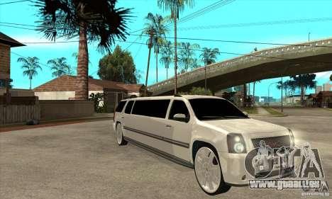 GMC Yukon 2008 für GTA San Andreas Rückansicht