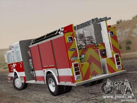 Pierce Pumpers. San Francisco Fire Departament für GTA San Andreas zurück linke Ansicht