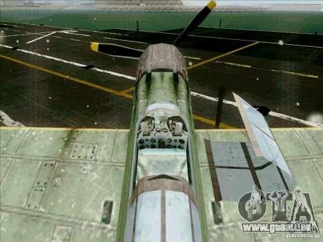 Avions japonais pour GTA San Andreas vue intérieure