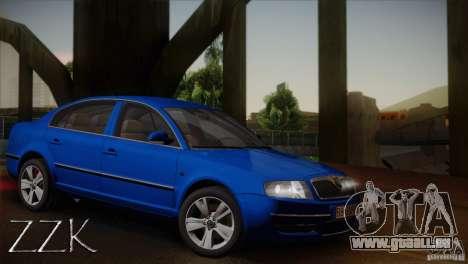 Skoda Superb 2006 pour GTA San Andreas vue intérieure