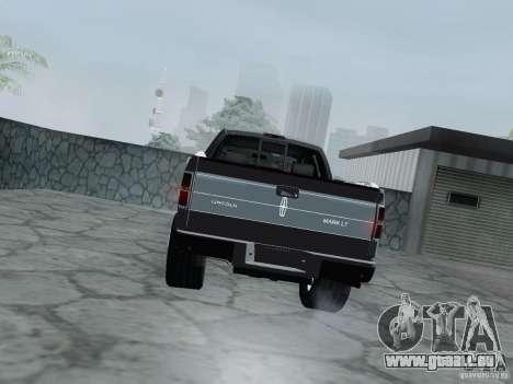 Lincoln Mark LT 2013 pour GTA San Andreas vue de droite