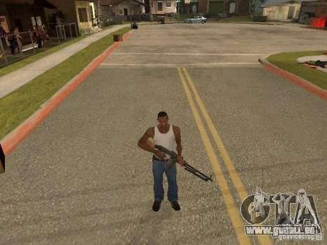 Leichtes Maschinengewehr Dâgterëva für GTA San Andreas sechsten Screenshot