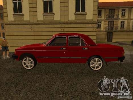 Volga GAZ 31029 Sl pour GTA San Andreas sur la vue arrière gauche