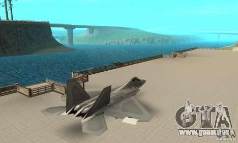 F-22 Grey pour GTA San Andreas sur la vue arrière gauche