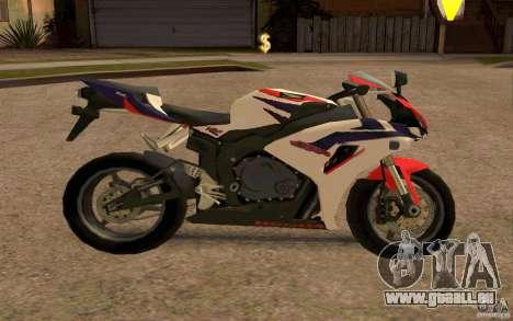 Honda Fireblade 1000RR pour GTA San Andreas vue de droite