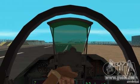 Su-47 « berkut » Cammo pour GTA San Andreas vue de droite