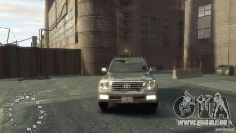 Toyota Land Cruiser 200 2010 pour GTA 4 est un droit