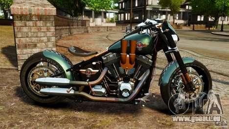 Harley Davidson Fat Boy Lo Racing Bobber für GTA 4 linke Ansicht