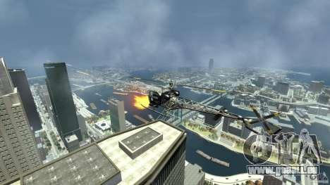 Sparrow Hilator pour GTA 4 est une vue de l'intérieur