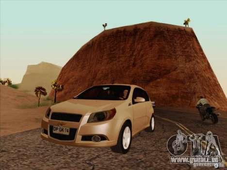 Chevrolet Aveo LT für GTA San Andreas Innenansicht