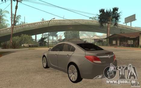 Opel Insignia 2010 für GTA San Andreas zurück linke Ansicht