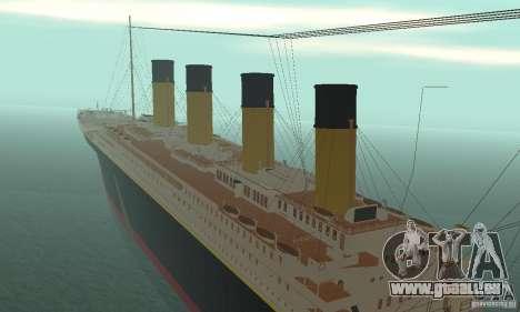 RMS Titanic pour GTA San Andreas vue intérieure