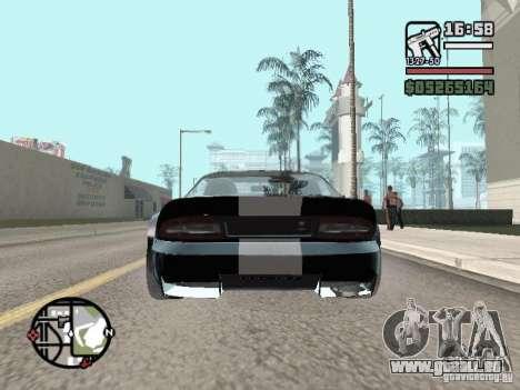 Banshee de GTA IV pour GTA San Andreas sur la vue arrière gauche