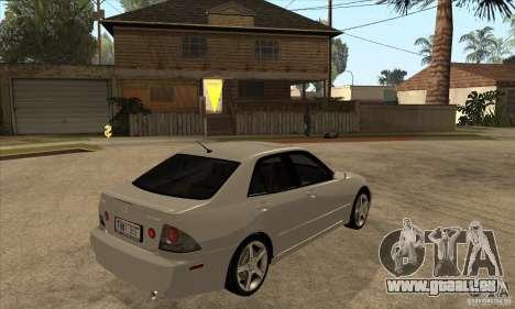 Lexus IS300 pour GTA San Andreas vue de droite