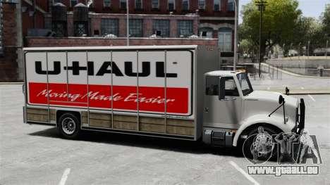 U-Haul camionnage pour GTA 4 troisième écran