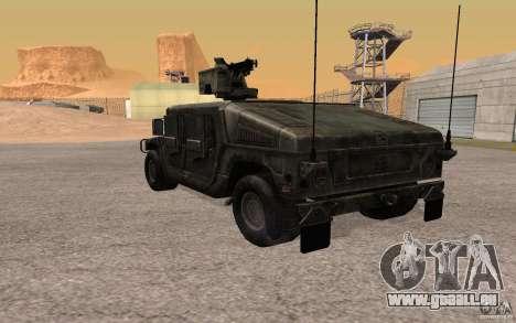 Hummer H1 from Battlefield 3 pour GTA San Andreas vue de droite