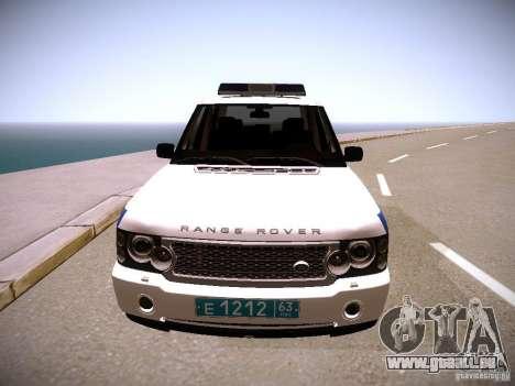 Range Rover Supercharged 2008 Police DEPARTMENT für GTA San Andreas Rückansicht