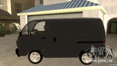 Suzuki Carry Blind Van 1.3 1998 pour GTA San Andreas laissé vue