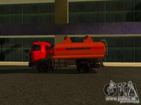 Camion MAZ pour GTA San Andreas laissé vue