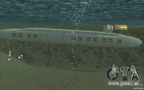 USS Submarine Beta pour GTA San Andreas laissé vue