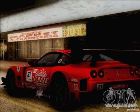 Ferrari 550 Maranello Super GT500 für GTA San Andreas rechten Ansicht