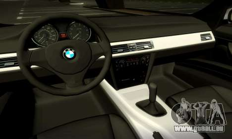 BMW 330 E90 pour GTA San Andreas vue de dessus