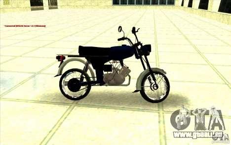 Cyclomoteur : pour GTA San Andreas sur la vue arrière gauche