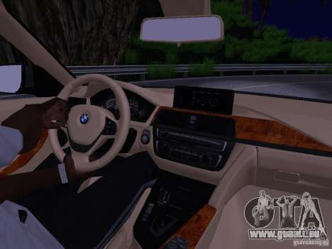 BMW 335i F30 Coupe pour GTA San Andreas vue intérieure