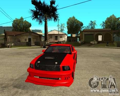 Ford Mustang Red Mist Mobile für GTA San Andreas Rückansicht