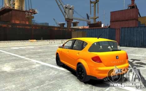 Seat Toledo pour GTA 4 Vue arrière de la gauche