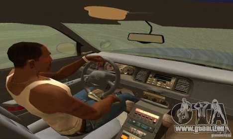 Ford Crown Victoria Orgeon Police für GTA San Andreas zurück linke Ansicht