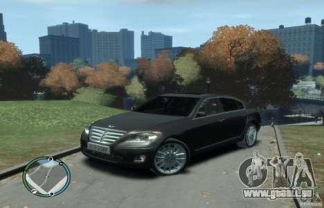 Hyundai Genesis Sedan Elite pour GTA 4 est une gauche