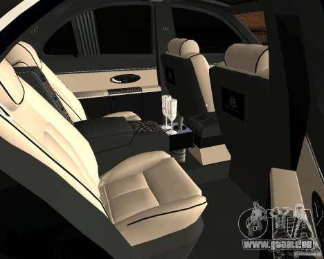 Maybach 57S für GTA San Andreas Rückansicht