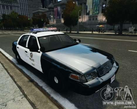 Ford Crown Victoria LAPD pour GTA 4 est une gauche
