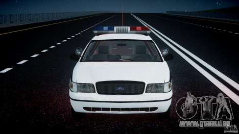 Ford Crown Victoria FBI Police 2003 für GTA 4-Motor