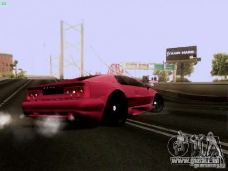 Lotus Esprit V8 für GTA San Andreas Rückansicht
