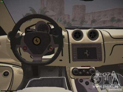 Ferrari California für GTA San Andreas Rückansicht