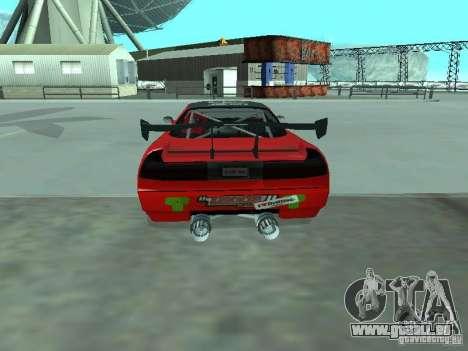 Infernus Drift Edition für GTA San Andreas zurück linke Ansicht