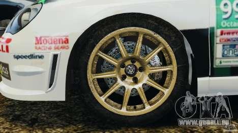 Subaru Impreza WRX STI N12 pour GTA 4 est une vue de l'intérieur
