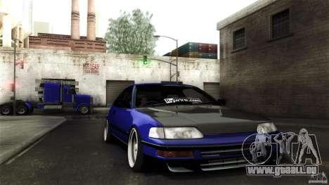 Honda CRX JDM pour GTA San Andreas vue de côté
